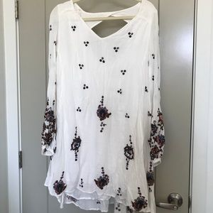 Free People oxford embroider shift dress with tags